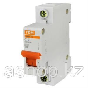 Автоматический выключатель реечный TDM ВА47-29 1P 16А, 230/400 В, Кол-во полюсов: 1, Предел отключения: 4,5 кА