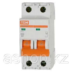 Автоматический выключатель реечный TDM ВА47-63 2P 25А, 230/400 В, Кол-во полюсов: 2, Предел отключения: 4,5 кА