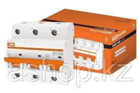 Автоматический выключатель реечный TDM ВА47-100 3P 100А, 230/400 В, Кол-во полюсов: 3, Предел отключения: 10 к