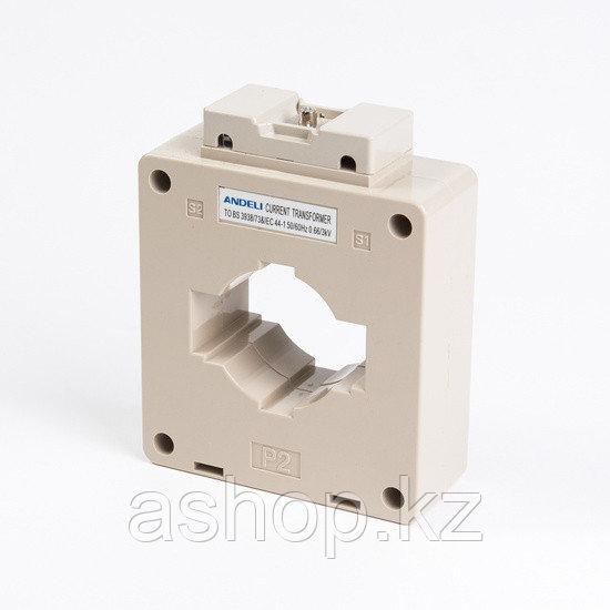 Трансформатор тока шинный Andeli MSQ-60 400/5, Класс точности 0,5, Первичный/вторичный 400/5 А, Цвет: Белый