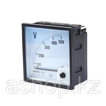 Вольтметр Andeli AM-96 АС 500, Диапазон: 0-500 В, Цена деления: До 100 В - по 50, до 500 В - по 10, Класс точн