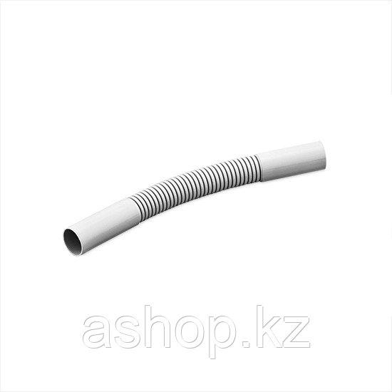 Поворот соединительный для трубы гофрированный Рувинил П01420, Диаметр: 20 мм, Поливинилхлорид самозатухающий,