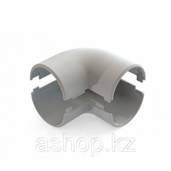 Угол соединительный для трубы 90 градусов Рувинил У01225, Диаметр: 25 мм, Полистирол, Цвет: Серый