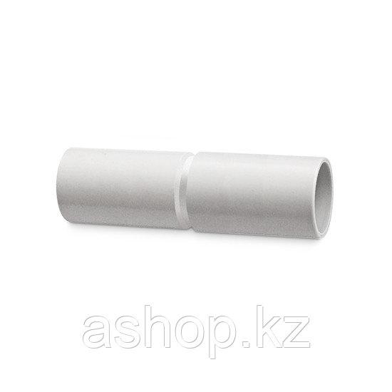 Муфта соединительная для трубы Рувинил М01225, Диаметр: 25 мм, Полипропилен, Цвет: Серый
