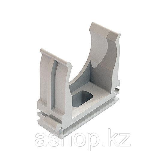 Крепёж-клипса для трубы Рувинил К01125, Диаметр: 25 мм, Полистирол, Цвет: Серый