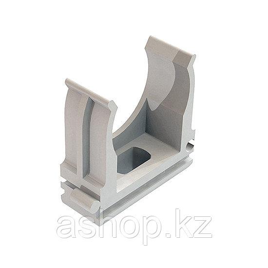 Крепёж-клипса для трубы Рувинил К01116, Диаметр: 16 мм, Полистирол, Цвет: Серый