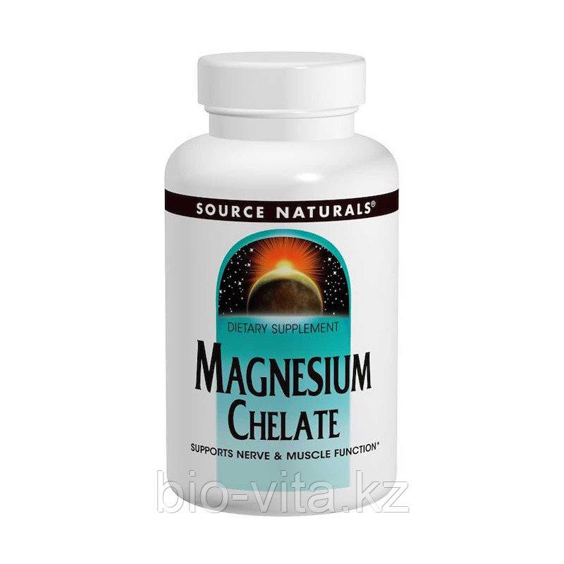 Source Naturals Магний хелатный 100 мг 250 таблеток.