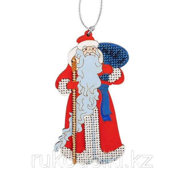 """Набор для вышивания бисером по дереву """"Дед Мороз"""""""