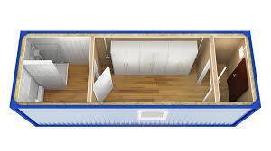 Раздевалка для строительной площадки из контейнера