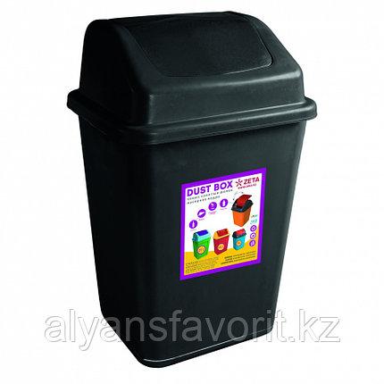 Ведро мусорное с клапаном, чёрное (32 л.), фото 2