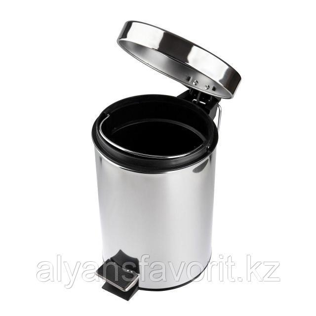 Урна с педалью для мусора 3 литра  (хром)