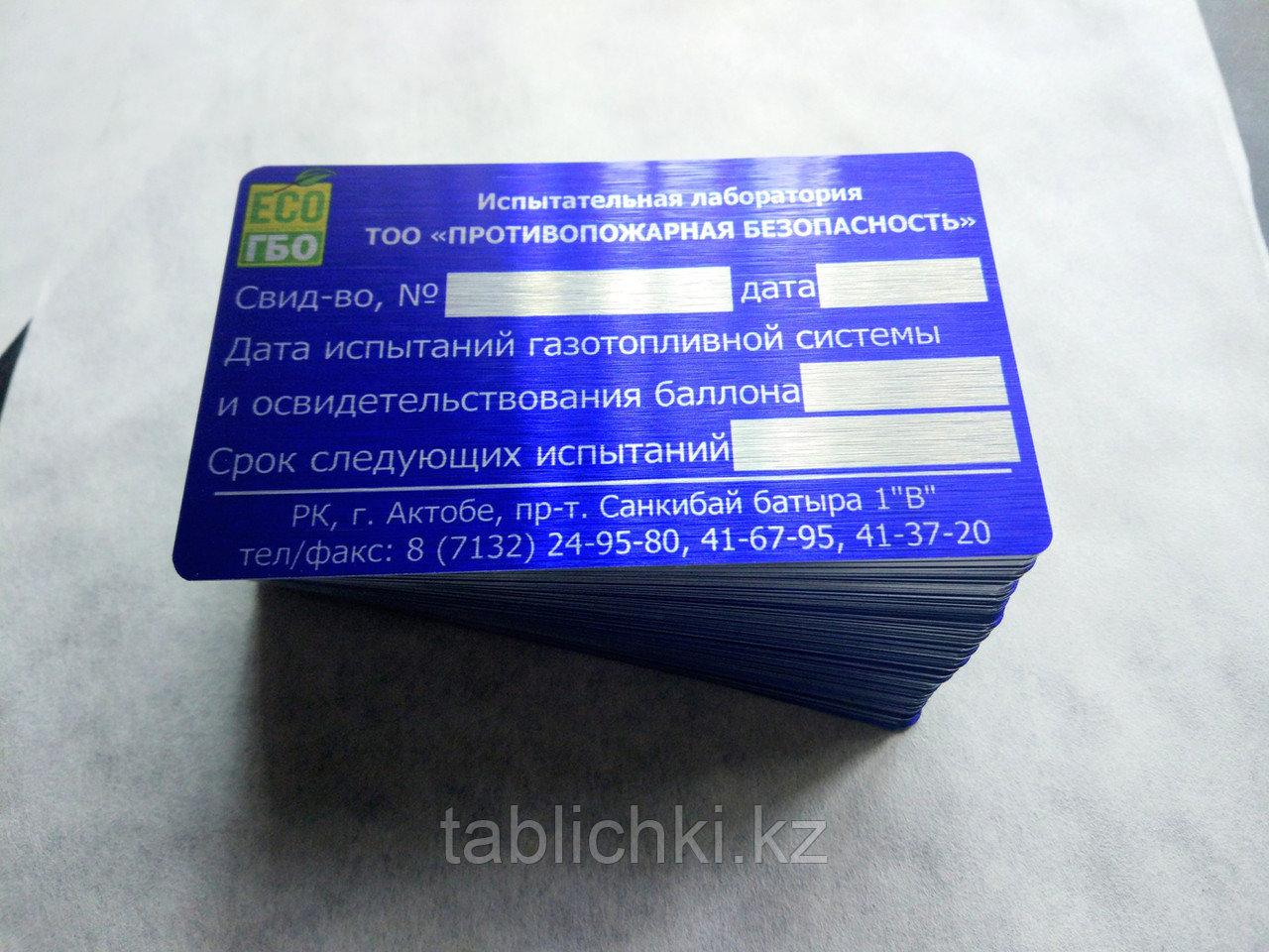 Информационные цветные металлические таблички