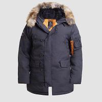 Куртка мужская OXFORD GREY BLACK\ORANGE