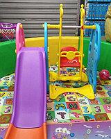 Игровой комплекс «Жирафик» (горка, качеля, баскетбольное кольцо, панель для лазания)