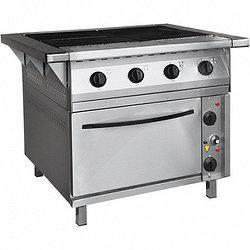 Плита электрическая 4-конфорочная с жарочным шкафом ПЭП-0,48-ДШ-Н-01 (вся нерж, духов шкаф черн металл)