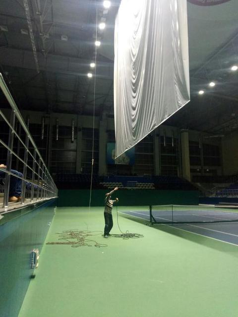 Монтаж рекламных конструкций в теннисном корте / 2018 год 16