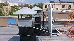 Также установлена антенна АЛЬФА Н111 для приёма цифрового эфирного казахстанского телевидения.