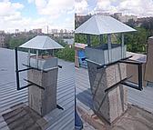 Кронштейны для антенн были изготовлены на заказ, для не стандартного места установки.