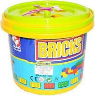 Детский конструктор в ведерке Bricks HJ-3601 48 деталей (примерный размер деталей 1.5х0.3 см)