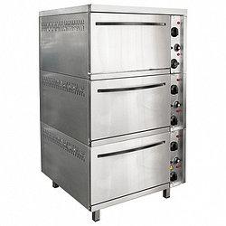 Шкаф жарочный 3-х секционный ШЭЖП-3, лицо нерж, 840х840(895)х1500(1520) мм