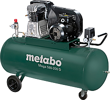 Компрессор Metabo MEGA 580-200 D, 3кВт, 11б, 200л
