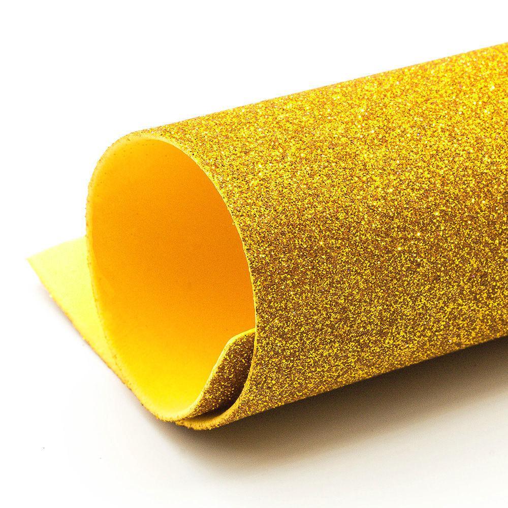 Фоамиран глиттерный, Золото светлое, формат А3 10 шт , Алматы