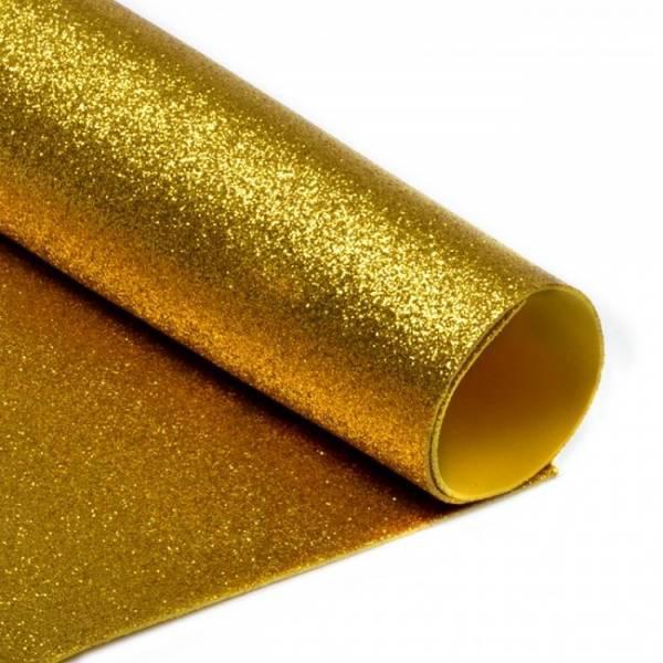 Фоамиран глиттерный, Золото темное, формат А3 1 лист , Алматы