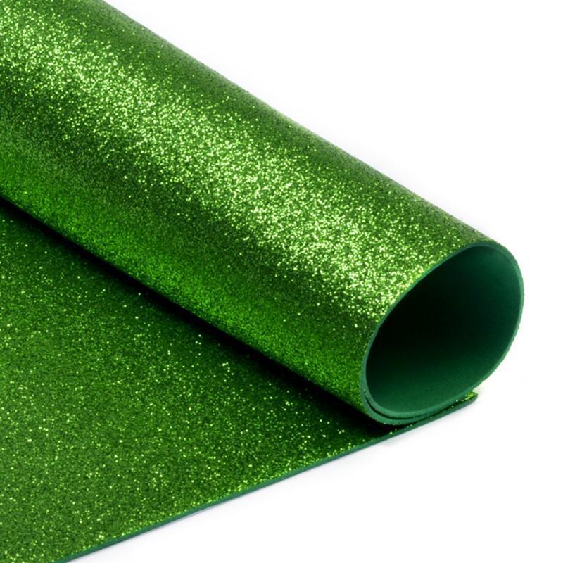 Фоамиран глиттерный, Зеленый, формат А3 1 лист , Алматы