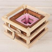Набор из 3-х деревянных ящиков для цветов «Летай от счастья»