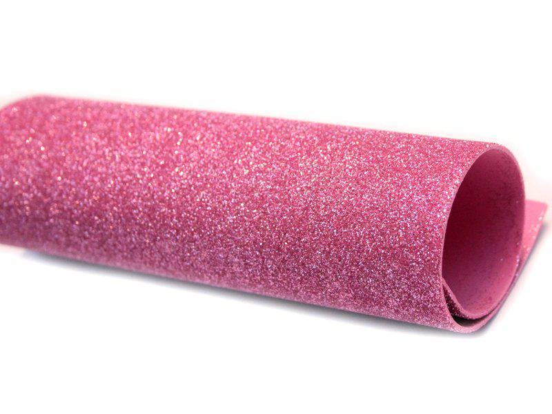 Фоамиран глиттерный, Розовый, формат А3 1 лист , Алматы