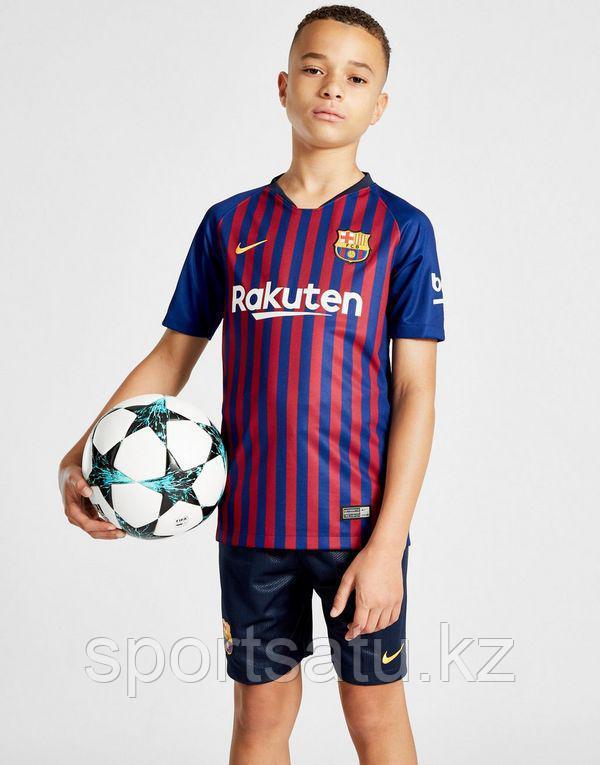 Барселона форма детская 2018/19 домашняя (майка+шорты)
