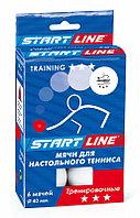 Шарики для настольного тенниса Training 3* (6 мячей в упаковке, белые)