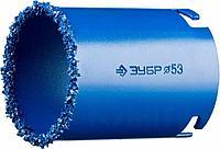 """Кольцевая коронка ЗУБР """"ПРОФЕССИОНАЛ"""" c карбид-вольфрамовым нанесением, 67 мм, высота 55 мм"""