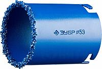 """Кольцевая коронка ЗУБР """"ПРОФЕССИОНАЛ"""" c карбид-вольфрамовым нанесением, 73 мм, высота 55 мм"""