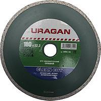 Круг отрезной алмазный URAGAN сплошной, влажная резка, 22,2х180мм