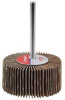 """Круг шлифовальный ЗУБР """"МАСТЕР"""" веерный лепестковый, на шпильке, тип КЛО, зерно-электрокорунд нормальный, P60, 40х80мм"""