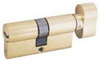 """Механизм ЗУБР """"ЭКСПЕРТ""""цилиндровый, повышенной защищенности, тип """"ключ-защелка"""", цвет латунь, 6-PIN, 80мм"""
