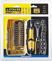 """Набор STAYER """"PROFESSIONAL"""": Биты и торцовые головки с трещеткой и воротком, 39 предметов"""