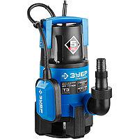 Насос Т3 погружной, ЗУБР Профессионал НПГ-Т3-400, дренаж. для грязной воды (d частиц до 35мм), 400Вт, пропуск способн 135л/мин, напор 5м, провод 10м