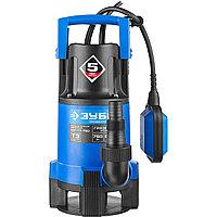 Насос Т3 погружной, ЗУБР Профессионал НПГ-Т3-750, дренаж. для грязной воды (d частиц до 35мм), 750Вт, пропуск способн 230л/мин, напор 8м, провод 10м