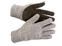 Перчатки утепленные Полюс, с флисовой подкладкой и спилковым наладонником, S-M, ЗУБР 11468-S