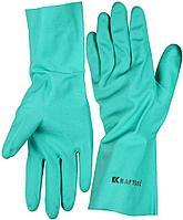 Перчатки KRAFTOOL маслобензостойкие, нитриловые, повышенной прочности, с х/б напылением, размер XL