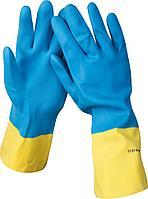Перчатки STAYER латексные с неопреновым покрытием, экстрастойкие, с х/б напылением, размер S