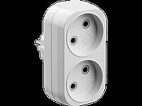 Разветвитель электрический MAXElectro, STAYER 55087-2, 2 гнезда, 10А/220В