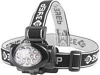 """Фонарь ЗУБР """"МАСТЕР"""" налобный светодиодный, 10Ultra LED, матричный рефлектор, 3 режима, 3ААА"""