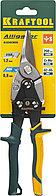 KRAFTOOL Ножницы по металлу Alligator, прямые, Cr-Mo, 260 мм