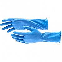 Перчатки хозяйственные латексные c хлопковым напылением, S//  Elfe