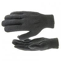 Перчатки трикотажные, акрил, цвет: чёрный, оверлок// Сибртех Россия