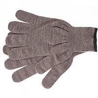 Перчатки трикотажные, акрил, цвет: коричневый, оверлок// Сибртех Россия