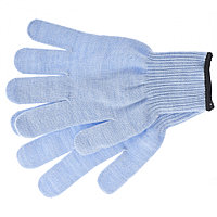 Перчатки трикотажные, акрил, цвет: голубой, оверлок// Сибртех Россия